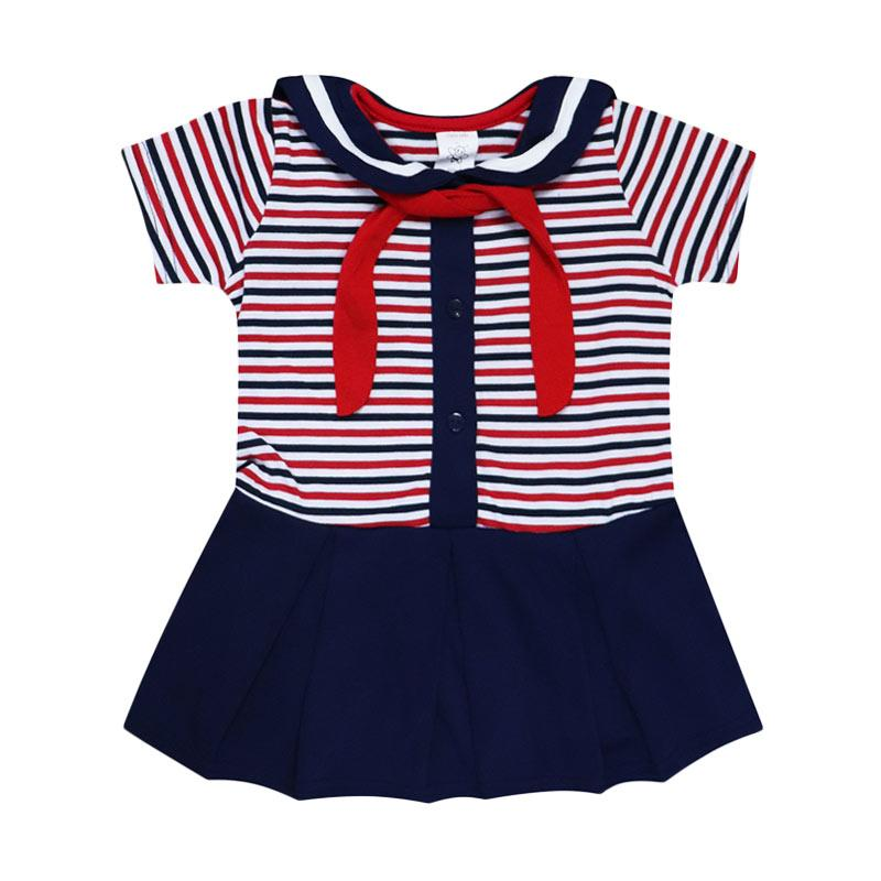 harga MacBear Stripe Sailor Moon Dress Baju Anak - Navy Blibli.com