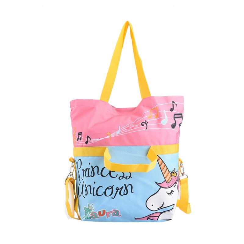 Naura Tote Bag Lipat Unicorn Pink Merchandise