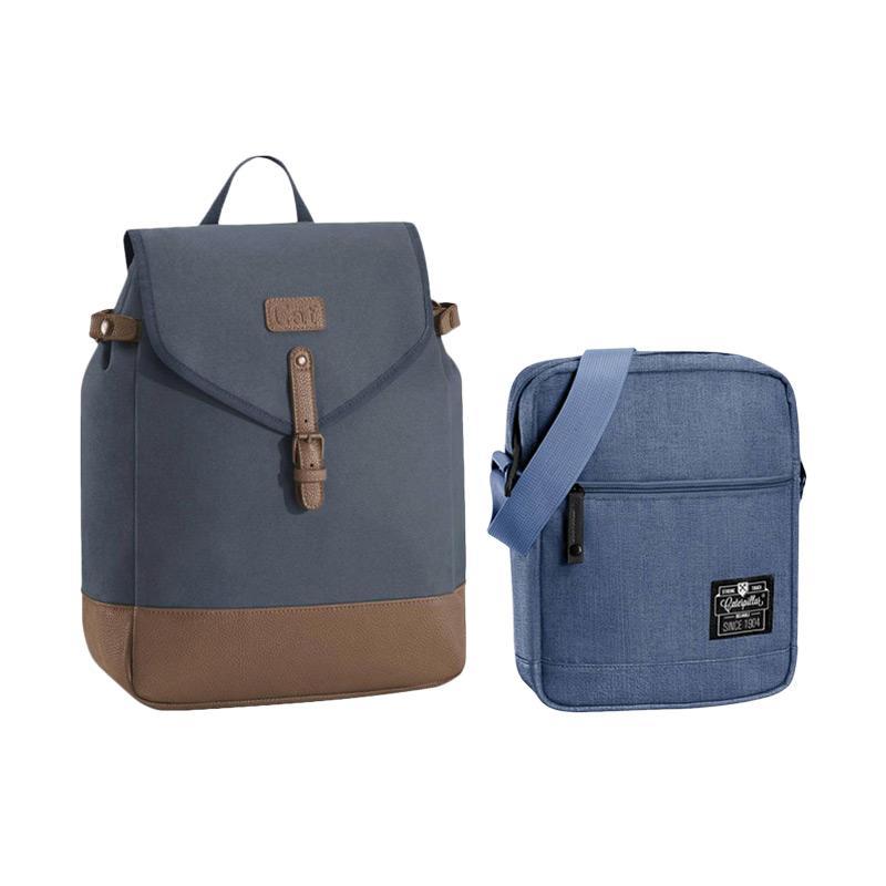 Cat Lola Backpack - Peacoat Navy Brown + Caterpillar Hauling Tas Selempang  Pria - Denim Blue 9fb6da97cc