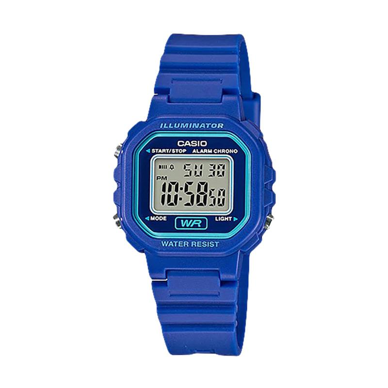 CASIO LA 20WH 2ADF General Ladies Digital Dial Jam Tangan Wanita Blue