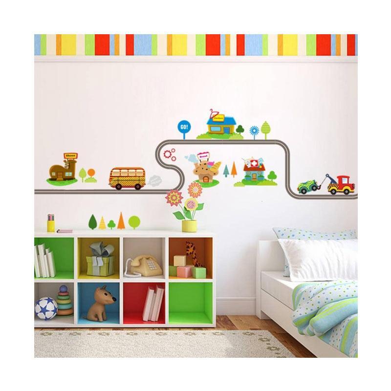 Jual Bluelans Cartoon Car Road Pattern Removable Wall Stickers Diy Art Decal Kids Room Decor 3 Online Oktober 2020 Blibli Com