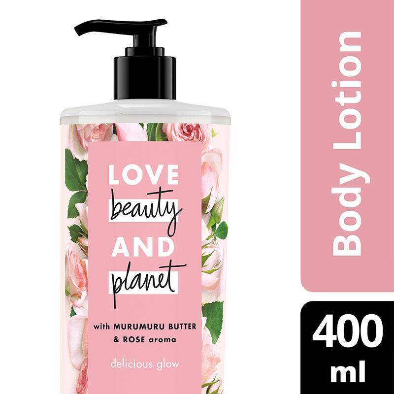LOVE BEAUTY & PLANET Murumuru Butter & Rose Body Lotion [400 mL] -
