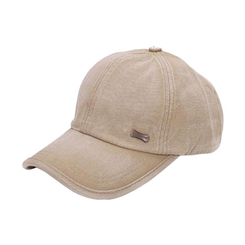 vanpower Unisex Leather Baseball Cap Outdoor Sport Adjustable Hat Brown