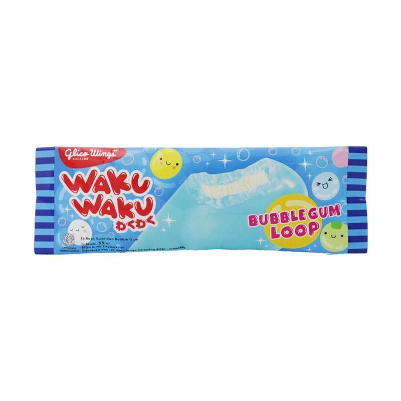 Jual Glico Wings Waku Waku Bubble Gum Loop Es Krim 55 Ml Online November 2020 Blibli
