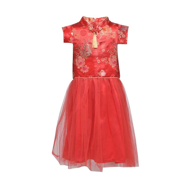Cute Gdw 654 Rd Kids Girls Dress Anak