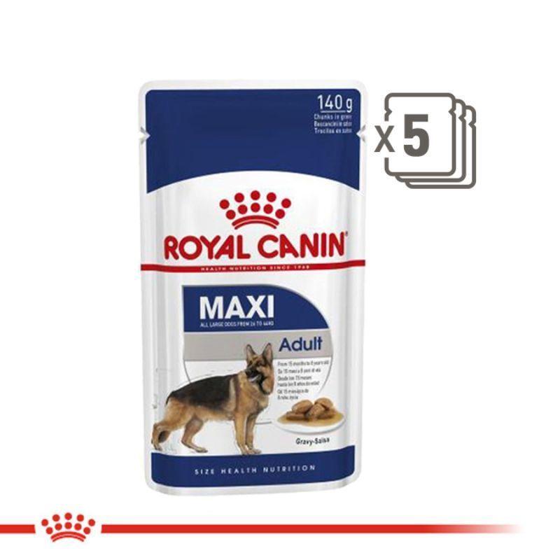 Jual Royal Canin Maxi Adult Makanan Anjing Dewasa Wet 5 X 140 G Online Desember 2020 Blibli