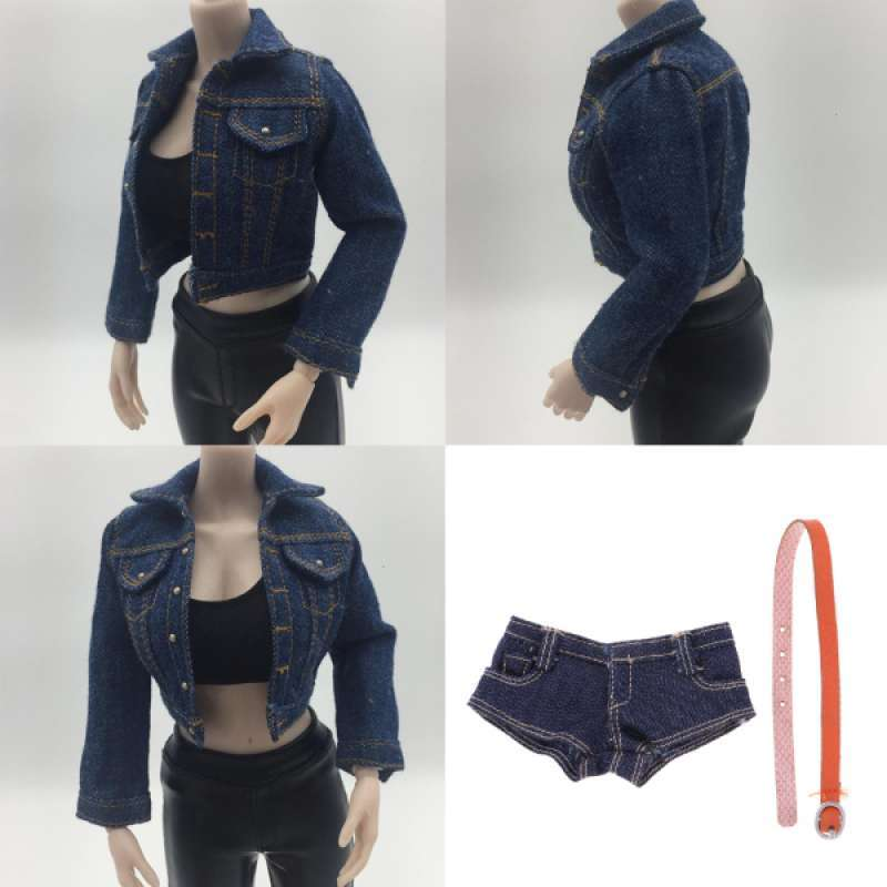 """DIY 1//6 Scale Female Jeans Shorts Pants for 12/"""" Action Figure Body Hot Toys"""