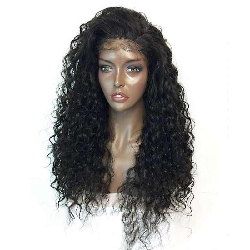 Jual Fashion Deal Curly Wig Lace Wigs Black Women Human Hair Fashion Lace Front Wig 22 Inch Online Januari 2021 Blibli