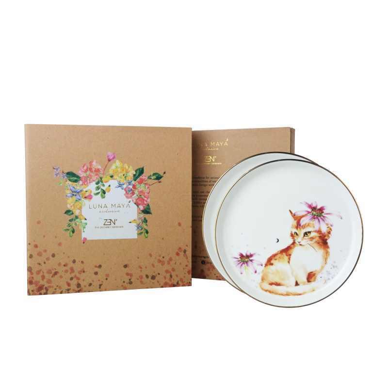 ZEN X Luna Maya Furry Cat Piring Keramik