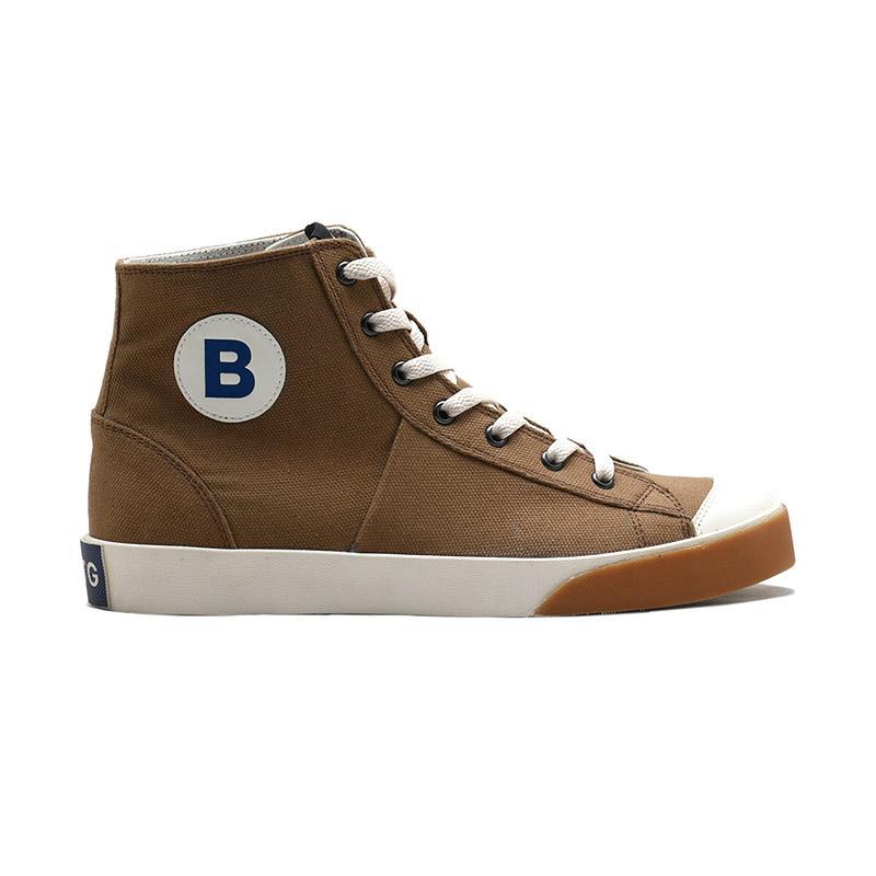 Brodo Sneakers Vantage HI Sneakers Shoes Pria Mocha White