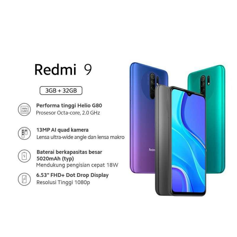 Xiaomi Redmi 9 Smartphone 3GB 32GB Garansi Resmi