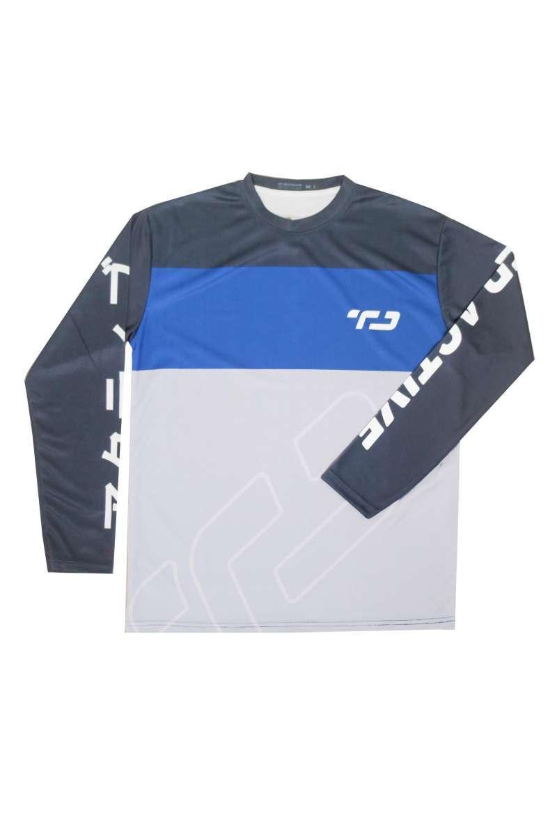 Third Day MS127 Td Active Baju Sepeda TD Blue Lines Tangan Panjang Baju Gowes