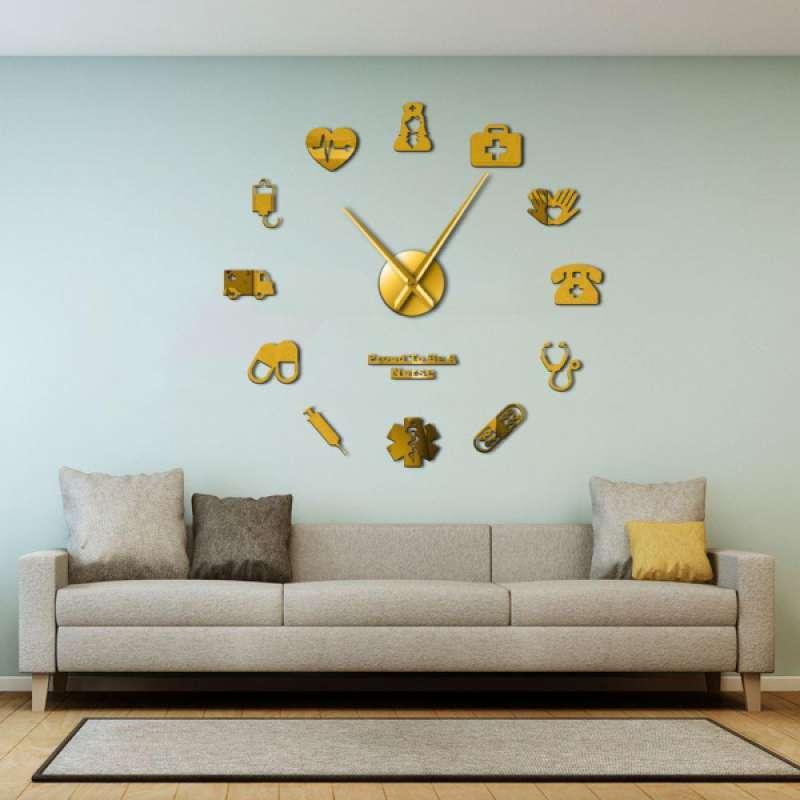 Jual Modern Diy Large Wall Clock 3d Mirror Sticker Home Decor Wall Art Nurse Theme Online Desember 2020 Blibli