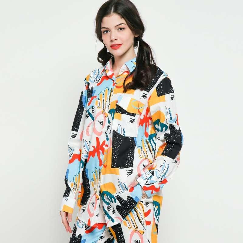 Calla The Label Tiffany Knoty Oversized Shirt Atasan Wanita