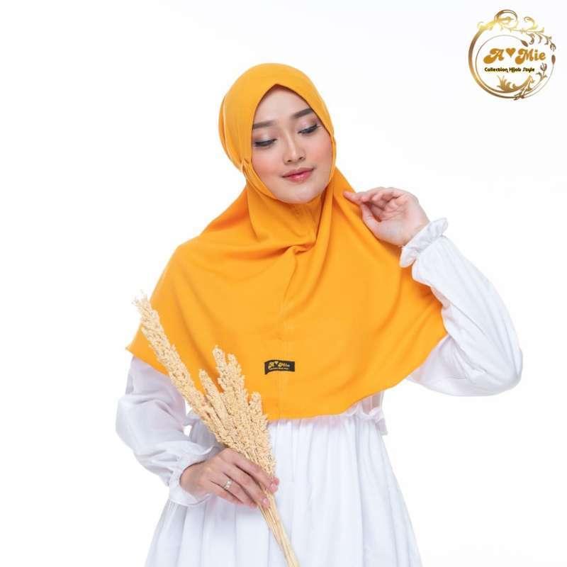 Jual Kerudung Bergo Amie 9 Warna Mustard Daily Hijab Fatimah Bergo Online November 2020 Blibli Com