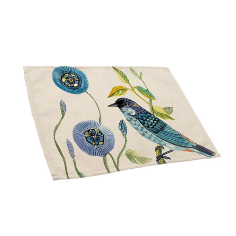 Jual Decorative Bird Printing Placemats Dining Table Cotton Linen Place Mat Online November 2020 Blibli Com
