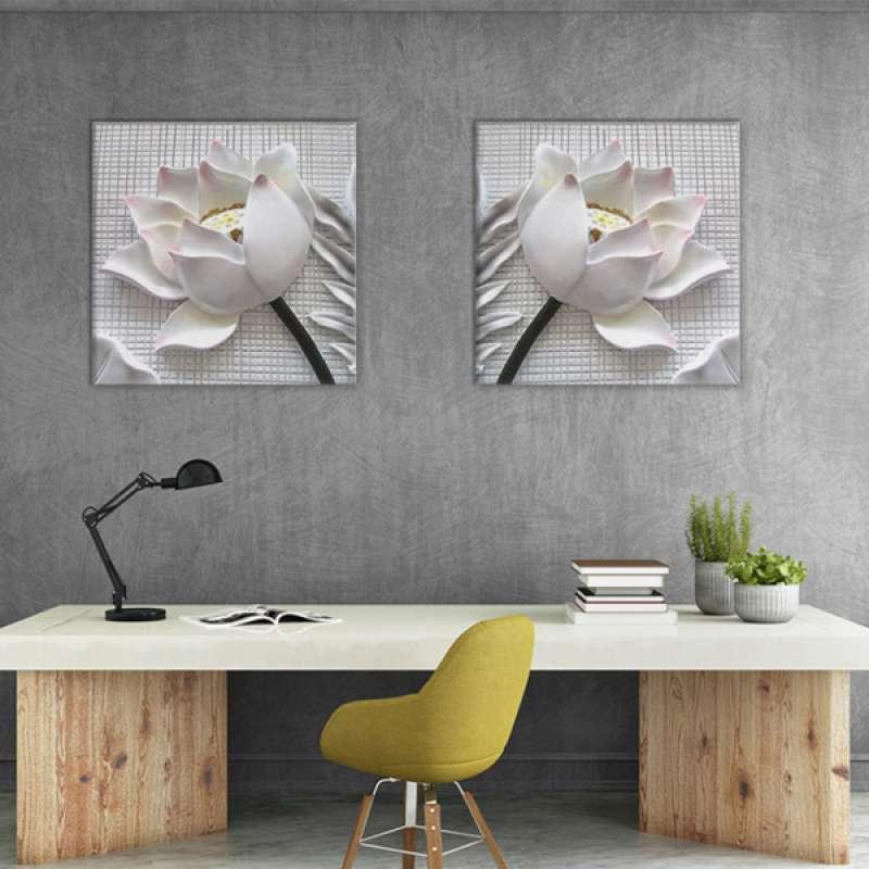 Jual 2pcs 3d Effect White Rose Canvas Painting Posters Prints Nordic Wall Artwork Online Maret 2021 Blibli