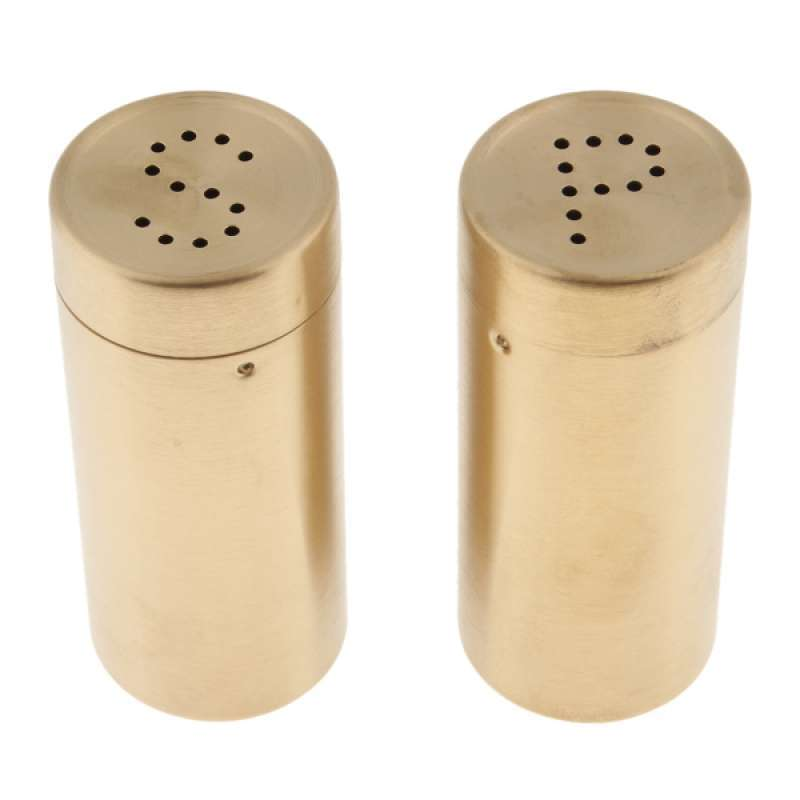 Jual 2pcs Salt And Pepper Shakers Set With Pour Holes Stainless Steel Online November 2020 Blibli Com