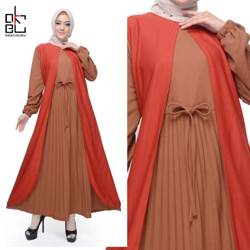Jual Dinar Baju Gamis Wanita Terbaru Baju Muslim Wanita Gamis Plisket Wanita Online Februari 2021 Blibli
