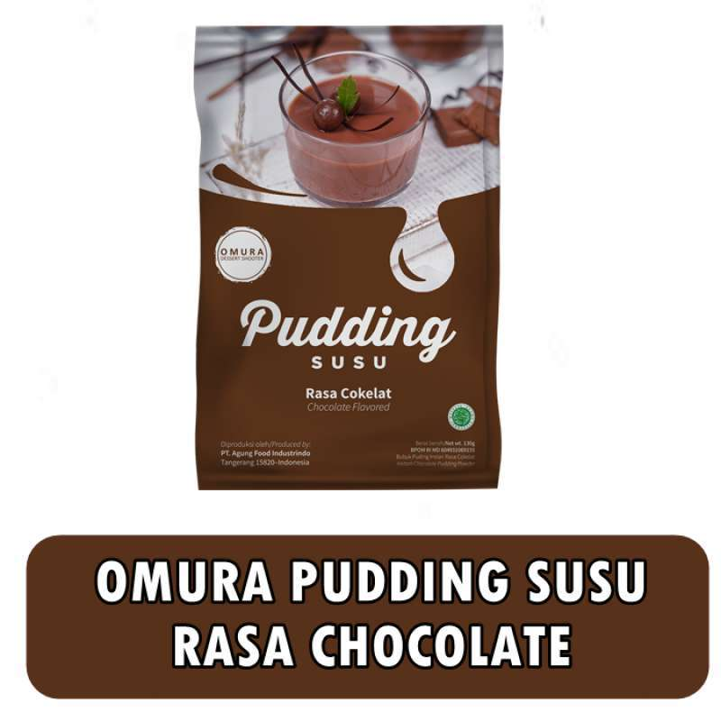 Omura Dessert Shooter Premix Instant Pudding Susu Rasa Chocolate Cokelat