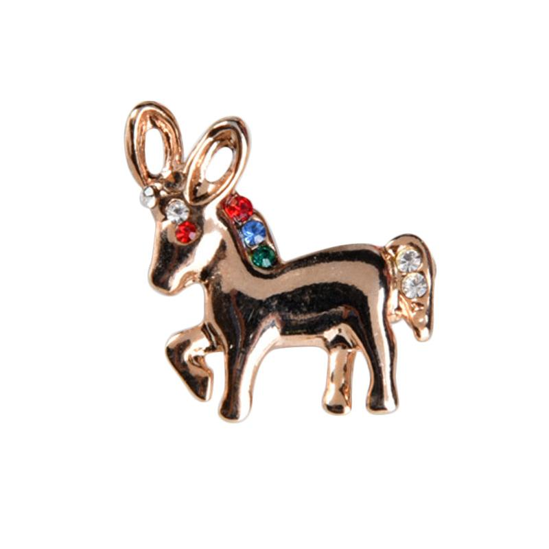 1901 Jewelry Agnella Brooch BR.1394.HR42 Bros - Gold