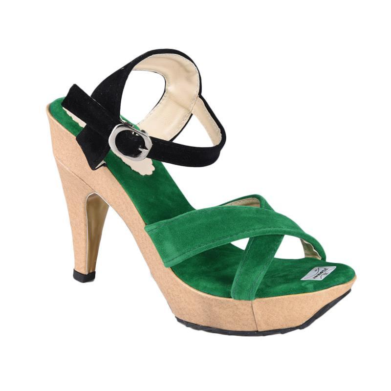 Flower Sepatu SN-219 High Heels Wanita - Hijau