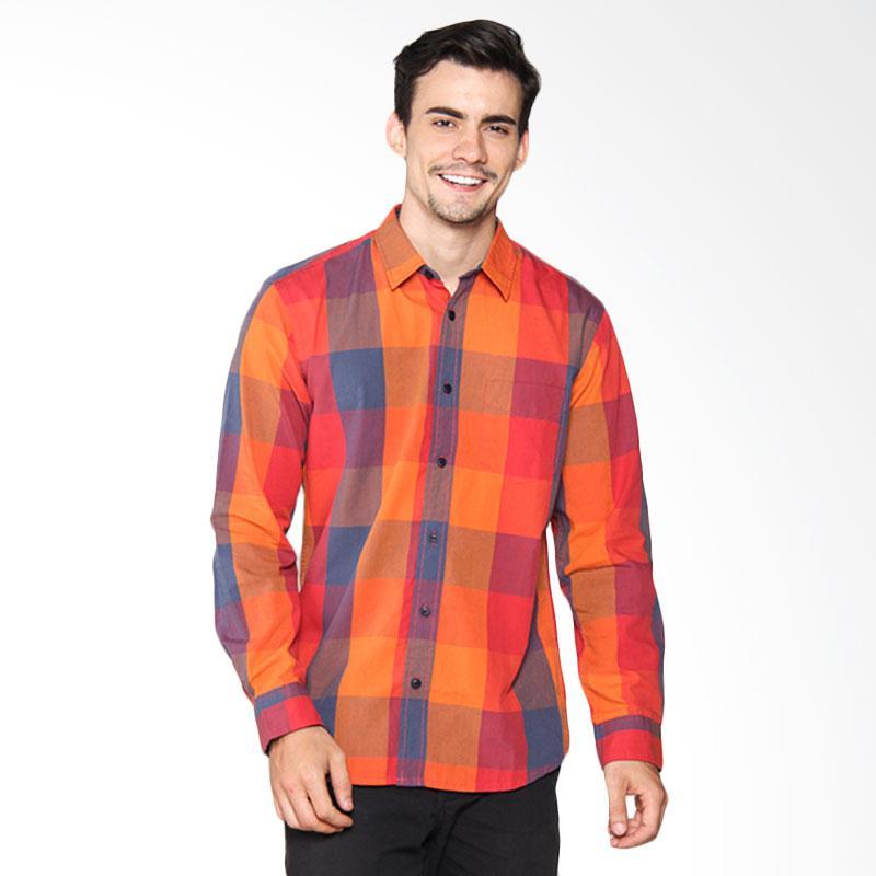 Hammer Y/D M.Indigo Shirt - Coral Orange B1SY438O1