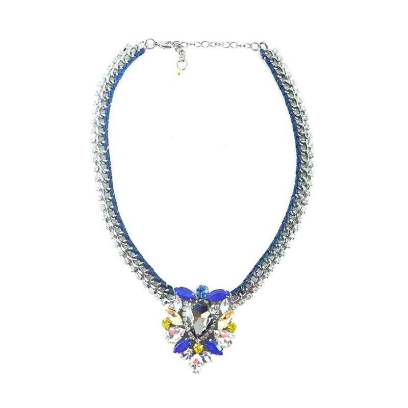 Momy Ribbon Celine Necklace - Blue Manggo