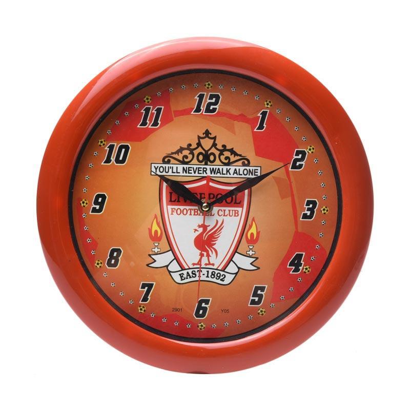 TJ y 05 Motif Liverpool Jam Dinding - Ring Merah [29cm]