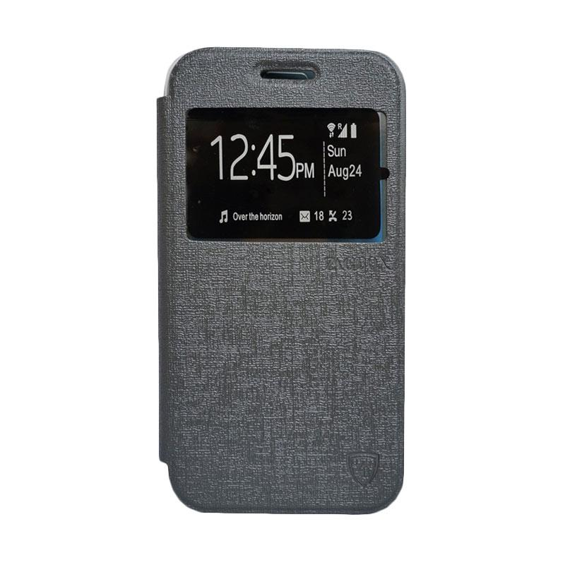 Zagbox Flip Cover Casing for Samsung Galaxy E5 - Abu-abu