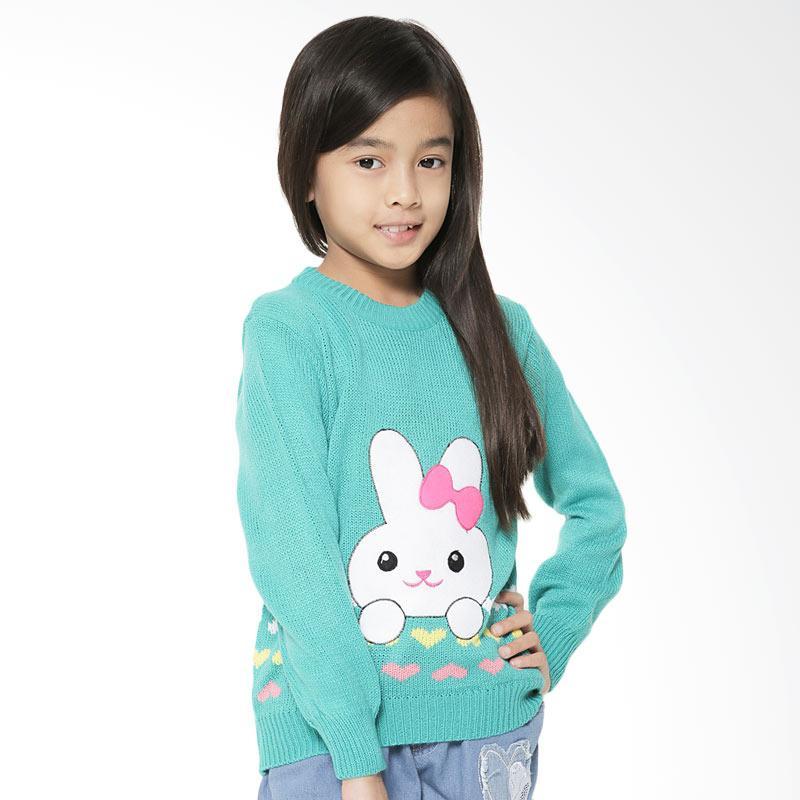 Adamsbell Bunny Katun Sweater Anak - Hijau