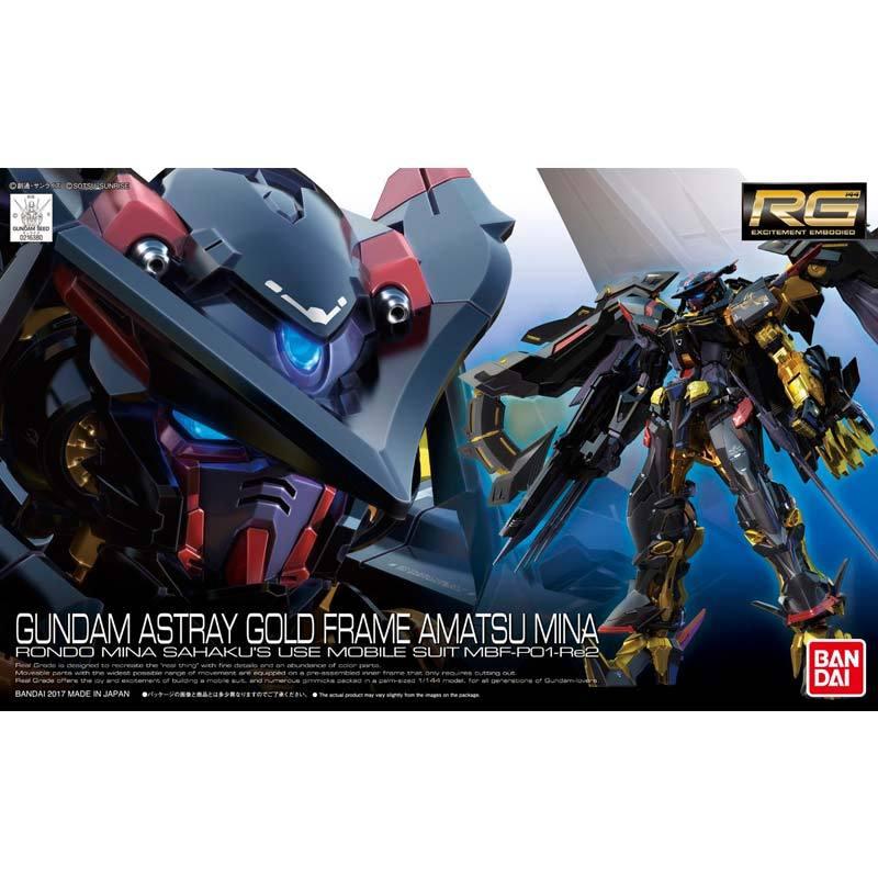 Bandai RG MBF-P01-Re2 Astray Gold Frame Amatsu Mina Gundam Model Kit [1:144]
