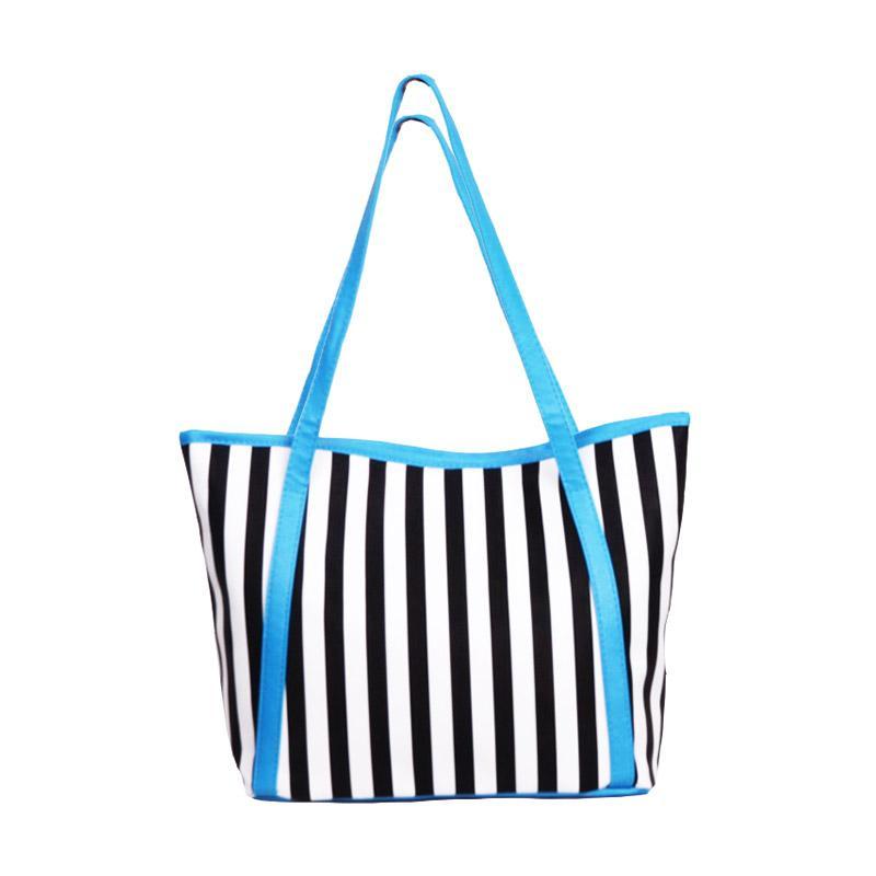 Chloe Babyshop Stripe Tote Bag - Blue