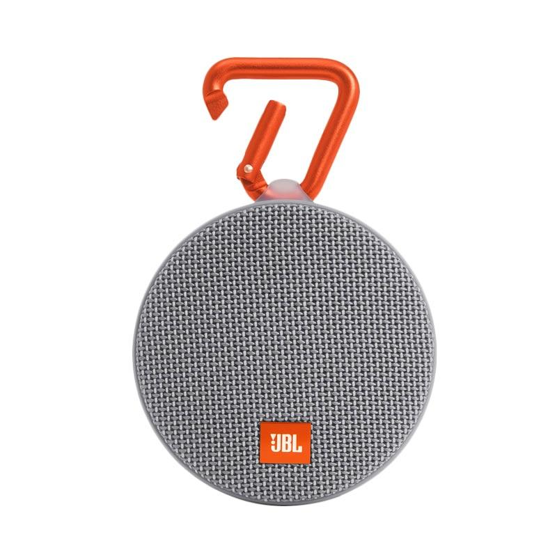 JBL Clip 2 Waterproof Bluetooth Speaker - Abu-abu