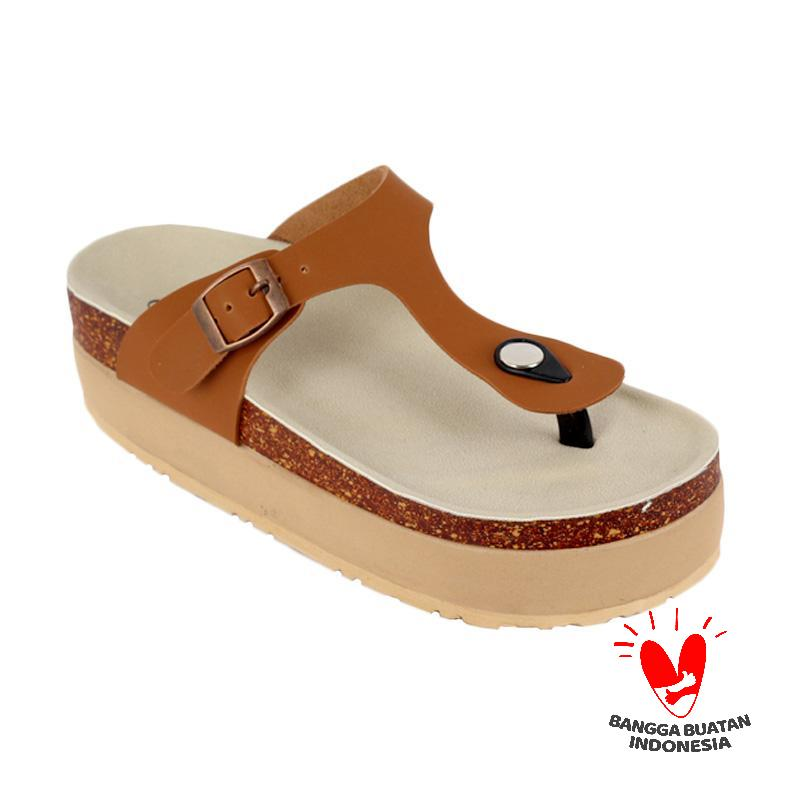 Raindoz Women RAK 022 Sandals Platform Tan