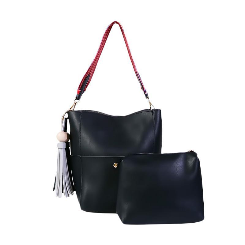 Ronaco Vanessa Tote Bag 2in1 Tas Wanita - Hitam