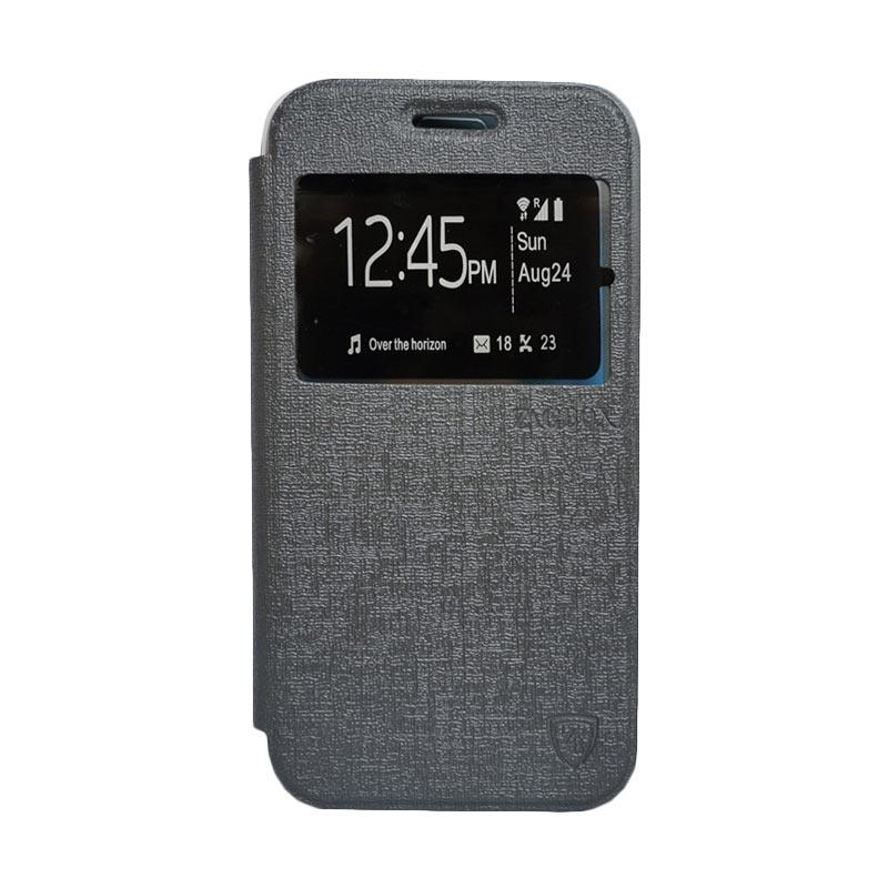 Zagbox Flip Cover Casing for Samsung Galaxy J1 - Abu-abu
