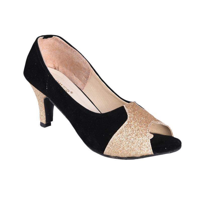 Flower Sepatu SN-192 High Heels Wanita - Hitam