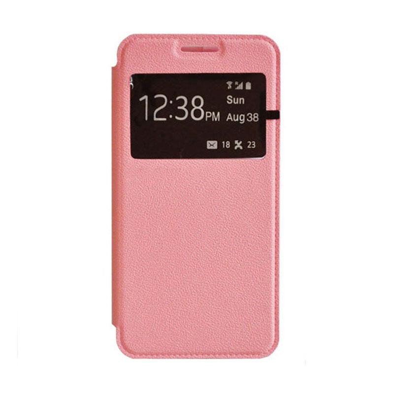 OEM Leather Book Cover Casing for Xiaomi M3 - Pink