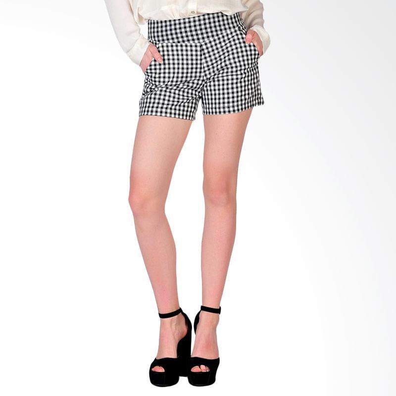 SJO & SIMPAPLY Sanremo Check Women's Shorts - Black