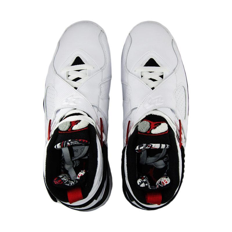 ... nike air jordan 8 retro sepatu basket putih ... 834b7d0f3d