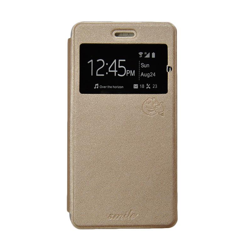 harga SMILE Flip Cover Casing for LG Stylus 2 - Gold Blibli.com