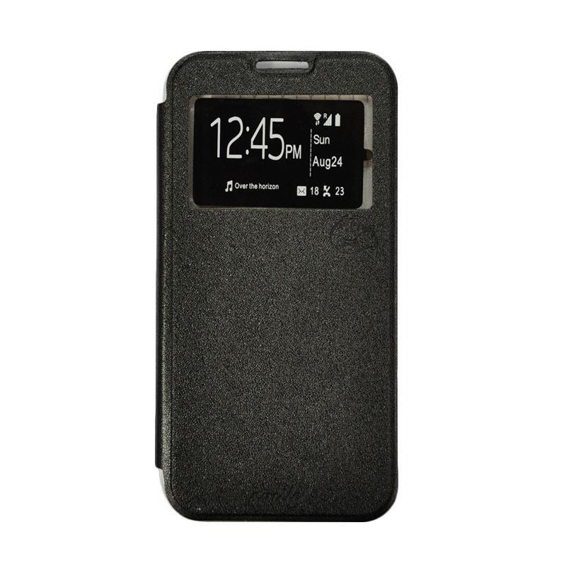 SMILE Flip Cover Casing for Asus Zenfone 3 Laser ZC551KL 5.5 Inch - Hitam