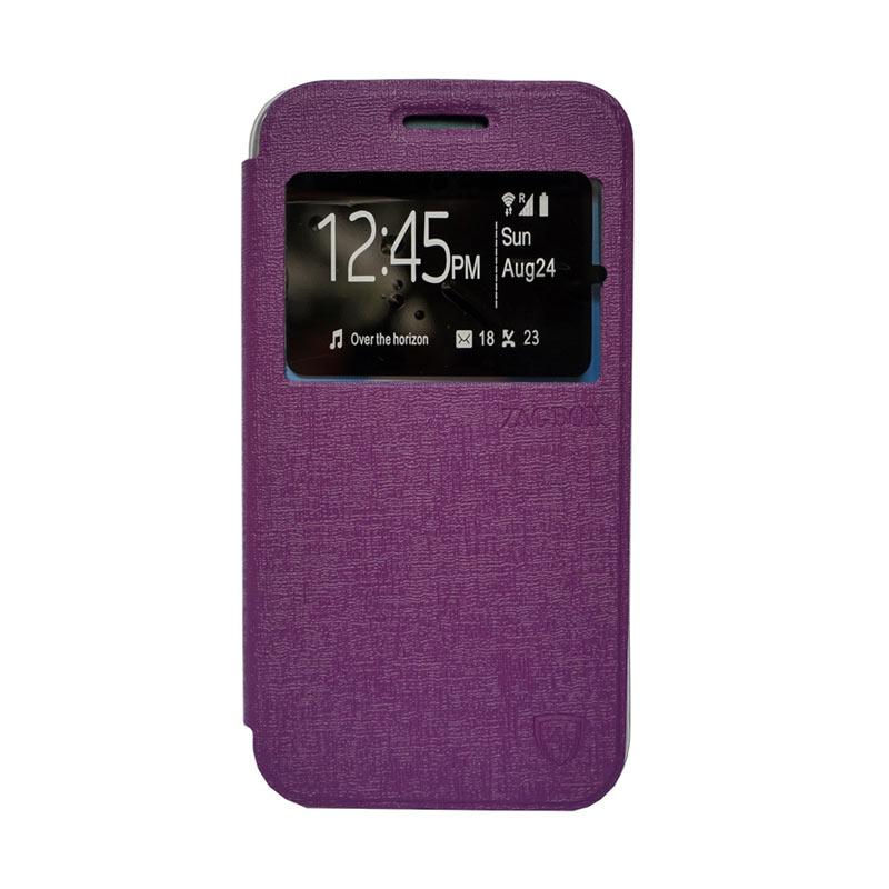 ZAGBOX Flip Cover Casing for Advan S5E - Ungu
