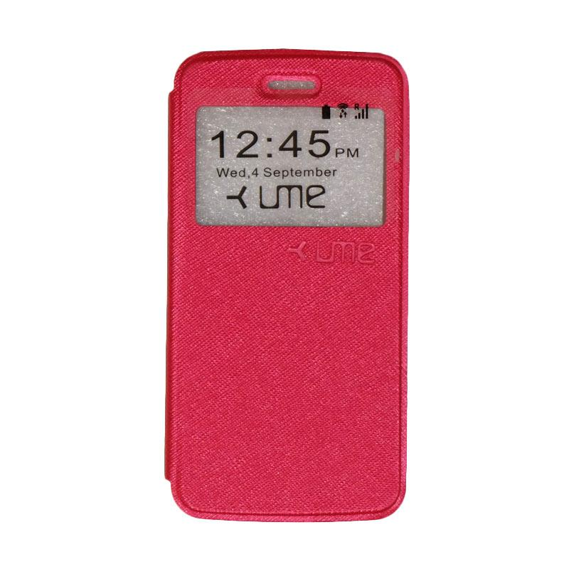 harga UME Himax M2 Flip Cover / Flipshell / Leather Case / Sarung HP Himax M2 / Sarung Handphone / View - Red Blibli.com