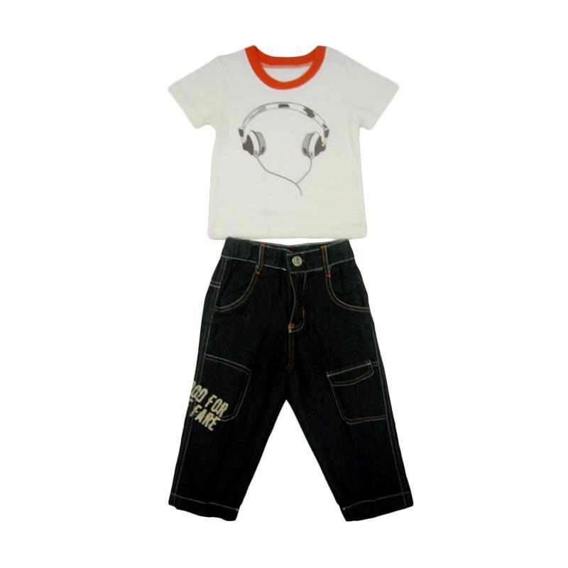 Wonderland Setelan Jeans Cowok - White