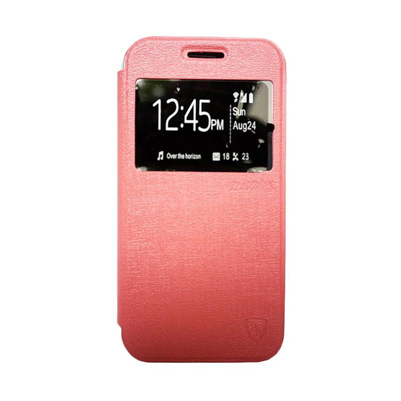 ZAGBOX Flip Cover Casing for Samsung Galaxy A310 A3 2016 - Pink