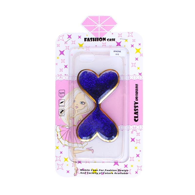 Fashion Case Gliter Love Casing for iPhone 6/iPhone 6S - Blue
