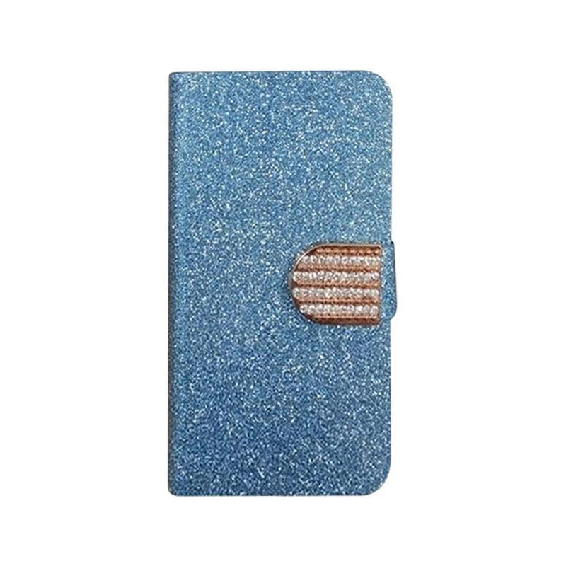 OEM Diamond Flip Cover Casing for Lenovo A816 - Biru