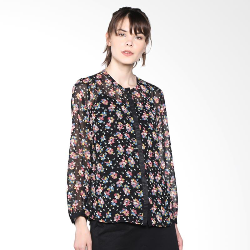 PS Career Flower Print Shirt PC203OF60003 Atasan Wanita - Black